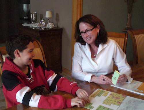 Tutoring a student at his home